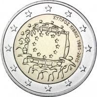 CYPRUS 2 EURO 2015 - 30 YEARS OF THE EU FLAG