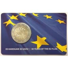 LATVIA 2 EURO 2015 - 30 YEARS OF THE EU FLAG (BU)