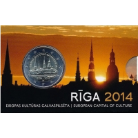LATVIA 2 EURO 2014 - RIGA - EUROPEAN CAPITAL OF CULTURE C/C