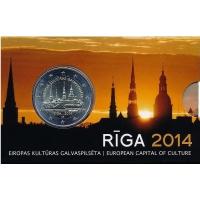 LATVIA 2 EURO 2014 - RIGA - EUROPEAN CAPITAL OF CULTURE C/C