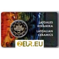 LATVIA 2 EURO 2020 - LATGALE CERAMICS - C/C