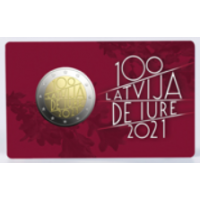 LATVIA 2 EURO 2021 - LATVIA DE IURE 100 - C/C