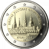 LATVIA 2 EURO 2014 - RIGA - EUROPEAN CAPITAL OF CULTURE