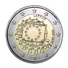 LATVIA 2 EURO 2015 - 30 YEARS OF THE EU FLAG