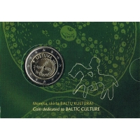 LITHUANIA 2 EURO 2016 - BALTIC CULTURE - C/C