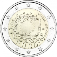 LITHUANIA 2 EURO 2015 - 30 YEARS OF THE EU FLAG