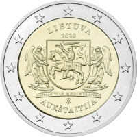 LITHUANIA 2 EURO 2020 - AUKSTAITIJA