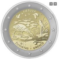 LITHUANIA 2 EURO 2021 - Žuvintas Biosqhere