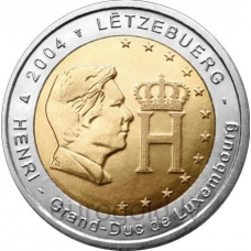 LUXEMBOURG 2 EURO 2004 - THE GRAND DUKE HENRI