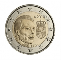 LUXEMBOURG 2 EURO 2010 - ARMS OF THE GRAND DUKE