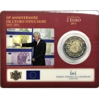 LUXEMBOURG 2 EURO 2012 - 10 YEARS OF EURO C/C