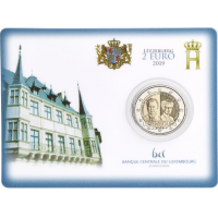 LUXEMBOURG 2 EURO 2019 - 100TH ANNIVERSARY OF THE ARRIVAL ON THE THRONE AND MARRIAGE OF GRAND DUCHESS CHARLOTTE - C/C