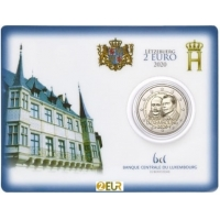 LUXEMBOURG 2 EURO 2020 -200TH BIRTH ANNIVERSARY OF PRINCE HENRI ORANGE -NASSAU -C/C