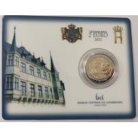 LUXEMBOURG 2 EURO 2021 - 100th anniversary of the birth of Grand Duke Jean - C/C