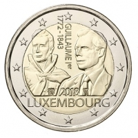 LUXEMBOURG 2 EURO 2018 - GRAND DUKE GUILLAUME I