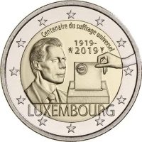 LUXEMBOURG 2 EURO 2019-2 - 100TH ANNIVERSARY OF UNIVERSAL SUFFRAGE