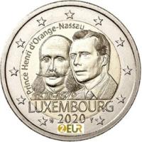 LUXEMBOURG 2 EURO 2020 -200TH BIRTH ANNIVERSARY OF PRINCE HENRI ORANGE -NASSAU
