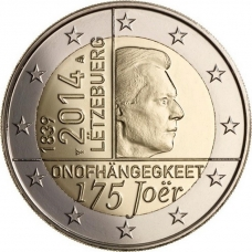 LUXEMBOURG 2 EURO 2014 - 175TH ANNIVERSARY OF THE INDEPENDENCE