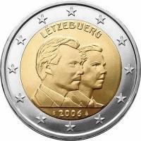 LUXEMBOURG 2 EURO 2006 - 25TH BIRTHDAY OF HEREDITARY GRAND DUKE