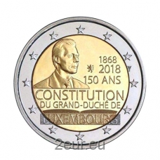 LUXEMBOURG 2 EURO 2018 - 150TH ANNIVERSARY OF THE LUXEMBOURG CONSTITUTION