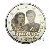 LUXEMBOURG 2 EURO 2021 - 40th wedding anniversary of Grand Duke Henri and Grand Duchess Maria Teresa - PHOTO