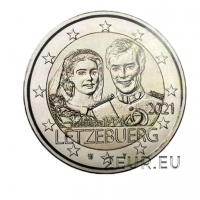 LUXEMBOURG 2 EURO 2021 - 40th wedding anniversary of Grand Duke Henri and Grand Duchess Maria Teresa - RELIEF