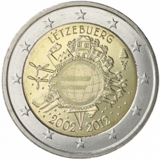 LUXEMBOURG 2 EURO 2012 - 10 YEARS OF EURO