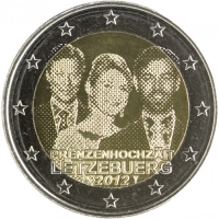 LUXEMBOURG 2 EURO 2012 - ROYAL WEDDING
