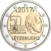 LUXEMBOURG 2 EURO 2017 - MILITARY SERVICE
