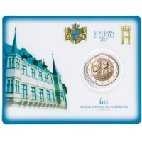 "LUXEMBOURG 2 EURO 2017 - 200TH ANNIVERSARY OF THE GRAND DUKE GUILLAUME III"" BU"