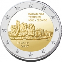 MALTA 2 EURO 2017 - HAGAR QIM TEMPLES