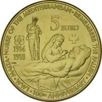 МАЛЬТА 5 EURO 2014 - WORLD WAR I  (UNC)