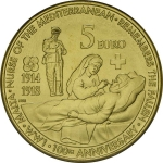 MALTA 5 EURO UNC