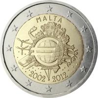 MALTA 2 EURO 2012 - 10 YEARS OF EURO