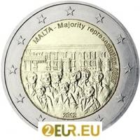 MALTA 2 EURO 2012 - 1887 MAJORITY REPRESENTATION