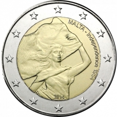 MALTA 2 EURO 2014 - INDEPENDENCE FROM BRITAIN IN 1964