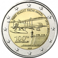 MALTA 2 EURO 2015 - FIRST FLIGHT OF MALTA