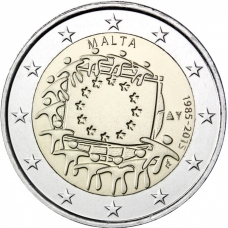 MALTA 2 EURO 2015 - 30 YEARS OF THE EU FLAG