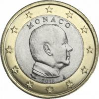 MONACO 2018 - 1 EURO PRINCE ALBERT II