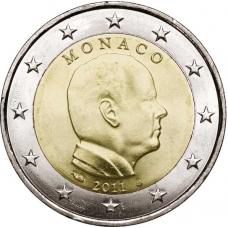 MONACO 2011 -  2 EURO PRINCE ALBERT II