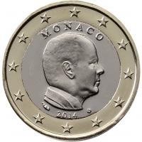 MONACO 2014 - 1 EURO -  PRINCE ALBERT II