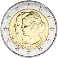 MONACO 2 EURO 2011 - CHARLENE & ALBERT II
