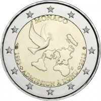 MONACO 2 EURO 2013 - 20TH ANNIVERSARY OF UN MEMBERSHIP