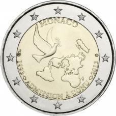 MONACO 2 EURO 2013 - 20TH ANNIVERSARY OF UN MEMBERSHIP