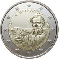 MONACO 2 EURO 2016 - FOUNDING OF MONTE CARLO BY CHARLES III