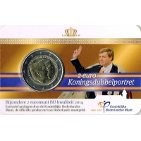 NETHERLANDS 2 EURO 2014 - 200TH ANNIVERSARY OF THE KINGDOM OF THE NETHERLANDS -C/C