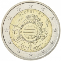 NETHERLANDS 2 EURO 2012 - 10 YEARS OF EURO