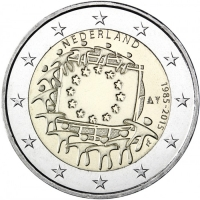 NETHERLANDS 2 EURO 2015 - 30 YEARS OF THE EU FLAG