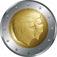 NETHERLANDS 2 EURO 2014 - 200TH ANNIVERSARY OF THE KINGDOM OF THE NETHERLANDS