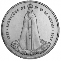 PORTUGAL 2.5 EURO 2017 - 100 YEARS OF THE PHENOMENA OF THE GOD OF FATIMA